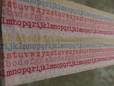 Alphabet letters pink red blue orange green crafts remnant fabric piece 30x130cm
