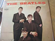 "Beatles LP ""Introducing The Beatles"" VJ LP-1062 Ver2 Oval Very Rare VG+Colorband"