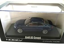 Audi A5 Coupé 2012 - Blue Metallic 1:43 NOREV DIECAST MODEL CAR