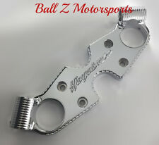 Hayabusa Chrome Engraved Ball Cut Lowering Triple Tree Top Clamp! 99-04-05-06-07