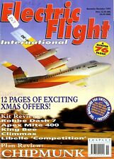 ELECTRIC FLIGHT MAGAZINE 1995 DEC CHIPMUNK, ROBBE DASH 7, APEX MITE 400,