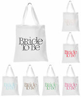 White Polka Dot Bride To Be Wedding Favour Tote Bags bridal hen party gift bags