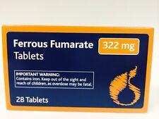 Fumarato Ferroso 322mg pastillas 28 Hierro Anemia Deficiencias de Tratamiento GB
