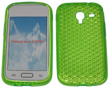 For Samsung Galaxy Ace 2 GT i8160 Pattern Gel Jelly Case Protector Cover Green