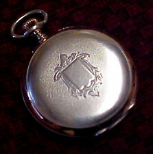 EXCEPTIONAL ISELY-GIRARD Le LOCLE .800 SILVER & 14K ROSE GOLD SWISS POCKET WATCH