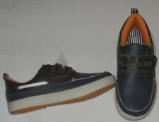 Shoes boys size 12M EUR 30 new man made materials navy blue + brown