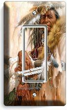 NATIVE AMERICAN INDIAN CHIEF SINGLE GFI LIGHT SWITCH WALL PLATE COVER ROOM DECOR