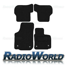 Seat Leon MK2 Facelift 2009 - 13 Tailored Black Car Floor Mats Carpets 4pc Set