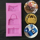Silicone Fondant Lace Mould Cake Decorating Purse High Heel Shoes Mold Tool XT
