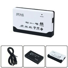USB 2.0 Card reader For SD XD MMC MS CF SDHC TF Micro M2 Adapter With DateLine