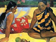 PAUL GAUGUIN TWO WOMEN FROM TAHITI OLD ART PAINTING PICTURE POSTER 2246OMLV