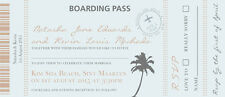 50 Personalised Destination Boarding / Board Pass Wedding Invitations!