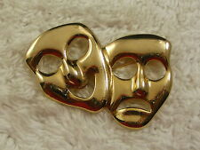 Goldtone Theatrical Masks Pin (B33)