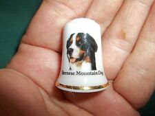 vintage Bernese Mountain Dog Collectible ceramic Thimble figurine Lim.Edition