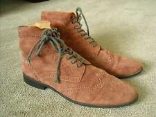 HAWKINGS MCGILL - MAUVE, SUEDE, ANKLE/CHUKKA, WINGTIP BOOTS - SIZE 13M