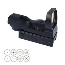 4 Reticles Holographic Airsoft Reflex Red Green Dot Sight Scope Fit 20mm Rail UK