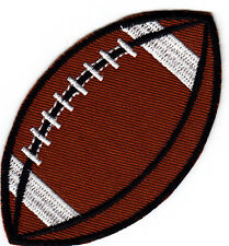 "SPORT BALL - FOOTBALL (3 1/2"" x 2"") -  Iron On Embroidered Patch - Sports - Game"