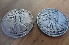 1947 & 1945 liberty head half dollar silver coin