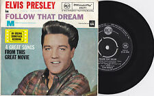 ELVIS PRESLEY - FOLLOW THAT DREAM EP 1962 1ST PRESSING AUSTRALIAN 45