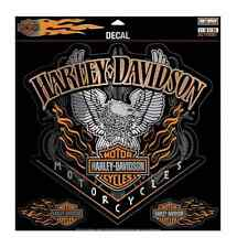 Harley-Davidson Eagle Pinstripes Decal, 4 Stickers Per Sheet, 3XL Size DC118307