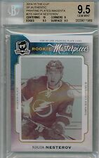 14/15 UD The Cup Nikita Nesterov Rookie Masterpieces Plate RC #'ed 1/1 BGS 9.5