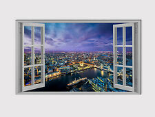 114 X LARGE CANVAS 18''x 32'' WALL ART LONDON SKYLINE TOWER BRIDGE Print picture