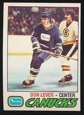 1977-78 O-Pee-Chee Hockey #111 DON LEVER (Vancouver Canucks) *Rare BLANK BACK*