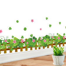 Wall Stickers Clovers Pattern Wallpaper Mural Removable Decals Glass Home Decor