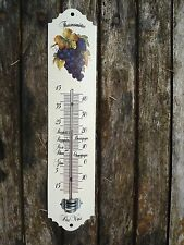 THERMOMETRE EMAILLE CAVE RAISIN GARANTI EMAIL VERITABLE 800°C NEUF FONCTIONNEL