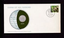 1983 Zimbabwe 1980 20 cent Coin Stamp Cover FDC Coins All Nations Set C-23