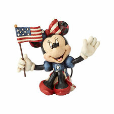 Disney Traditions Jim Shore 2017 Patriotic MINNIE MOUSE Mini Figurine 4056744