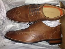 Men's brown colehaan leather brogues size 8