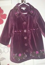 Girls Purple Embroidered Velvet Coat. Age 2-3 Years. H&M