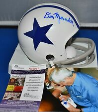 DON MEREDITH AUTOGRAPHED TWO BAR TB 60-63 MINI HELMET DALLAS COWBOYS JSA