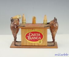 Vintage Carta Blanca Beer Sign Frogs Taxidermy Man Cave Display