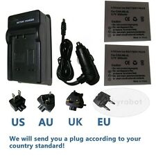 2pk NB-4L Battery + Charger for Canon IXUS 30 40 50 55 60 60 70 75 80 IS i7