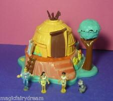 Polly Pocket Mini Disney ♥ Pocahontas Baumhaus ♥ Tipi ♥ 100% Komplett ♥ 1995 ♥