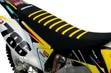 2008-2016 SUZUKI RMZ 450 Stewart Bumblebee Yellow Ribs SEAT COVER BY Enjoy MFG