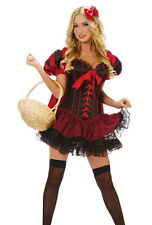 Costume Cappuccatto Rosso Carnevale Festa Halloween Party Riding Hood Costume S