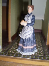 Dolls house figure 1/12th scale Poly/Resin older servant