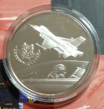 Republic Of Singapore Air Fore 30th Anniversary 925 fine silver medal.