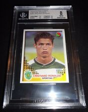 2002-03 Panini Futebol Cristiano Ronaldo Rookie Sticker RC BGS 8 NM-MT W/10 Sub!