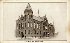 Vintage Postcard  City Hall Ft. Wayne IN  Allen County