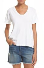 NWOT $128 Current/Elliot White Sugar Overlay The Girlfriend Tee Size 2 US 6/8