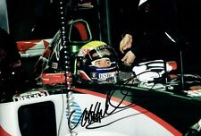 MARK WEBBER - Signed Colour cockpit photo (Minardi)