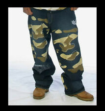 * New * Majah flavah * Urban camuflaje jeans hip-hop era baggy w30 * unique *