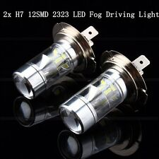 2x 60W H7 12 SMD 2323 Samsung LED Car Fog Running Driving DRL Light White Bulb