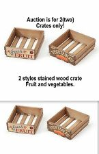 Two stained wood crates 1:24 (G) scale DIORAMA