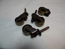 Vintage Brass Caster Set of 4