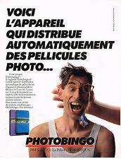 PUBLICITE ADVERTISING 015  1990  PHOTOBINGO   distributeur de pellicules photo